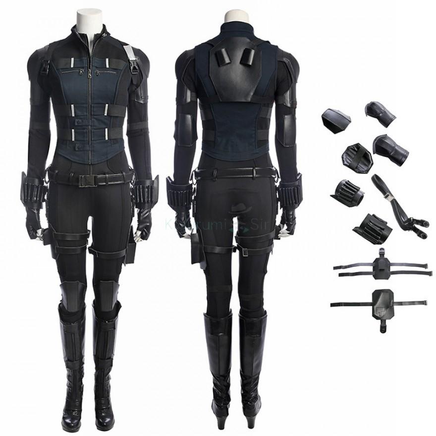 Avengers Infinity War Black Widow Cosplay Costume