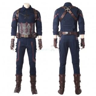 Avengers Infinity War Captain America Steve Rogers Cosplay Costume