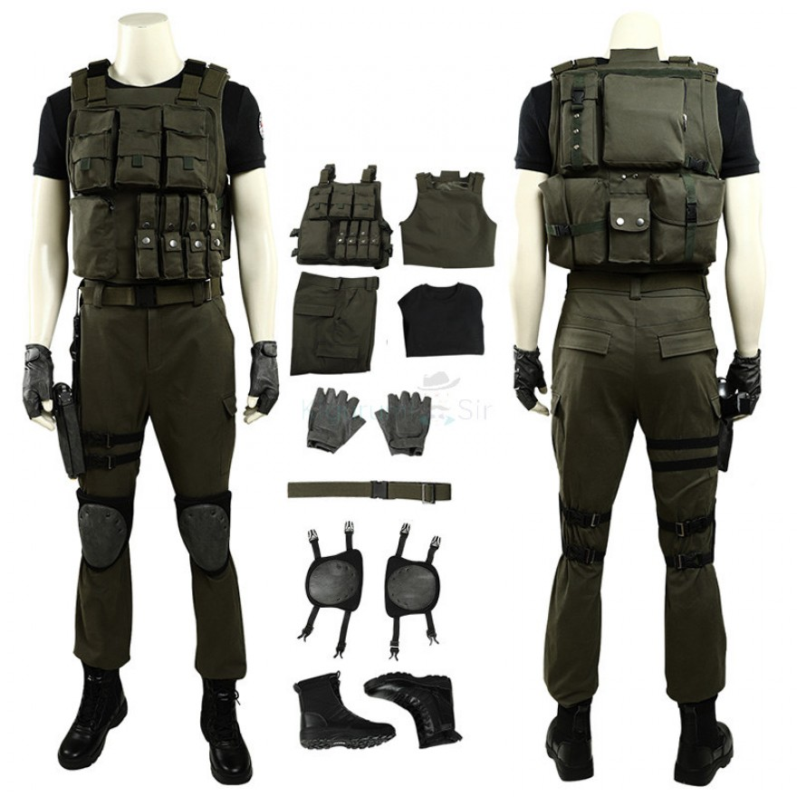 Resident Evil 3 Remake Carlos Oliveira Cosplay Costume