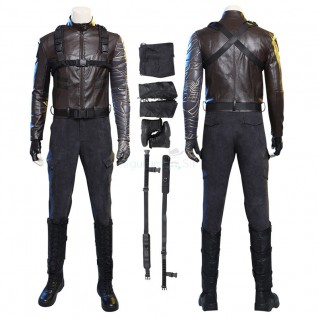 Winter Soldier Bucky Barnes Cosplay Costume