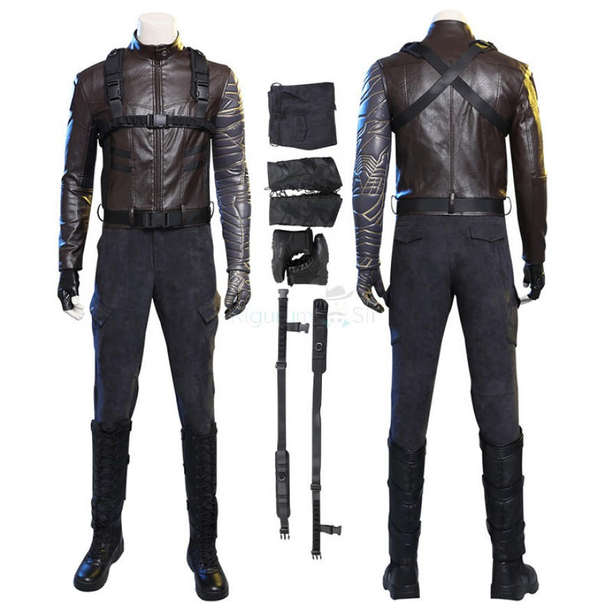 Winter Soldier Bucky Barnes Cosplay Costume