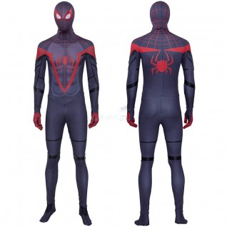 Spider Man Miles Morales Cosplay Costume Spiderman Suits for Adult