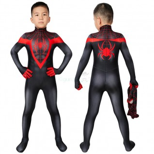 Spider-Man Miles Morales Cosplay Costume Spiderman Suits for Kids