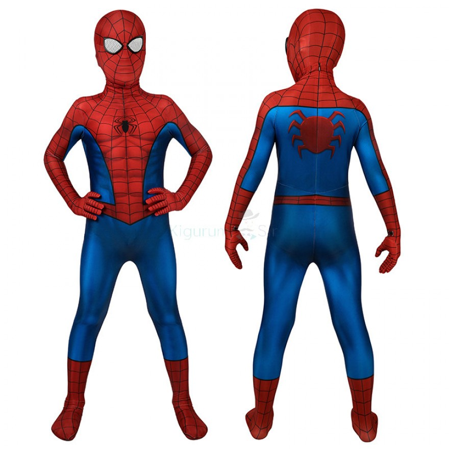 Kids Spider-Man Costume Classic Ultimate Spiderman Cosplay Suits