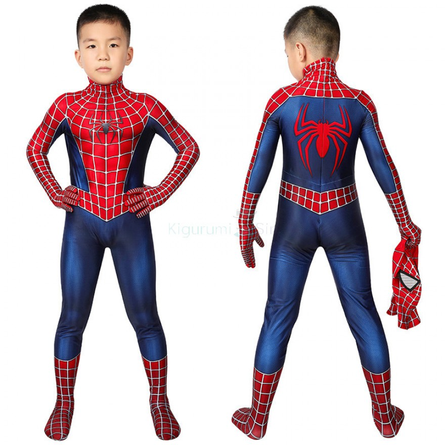 Spider Man Tobey Maguire Cosplay Costume for Kids