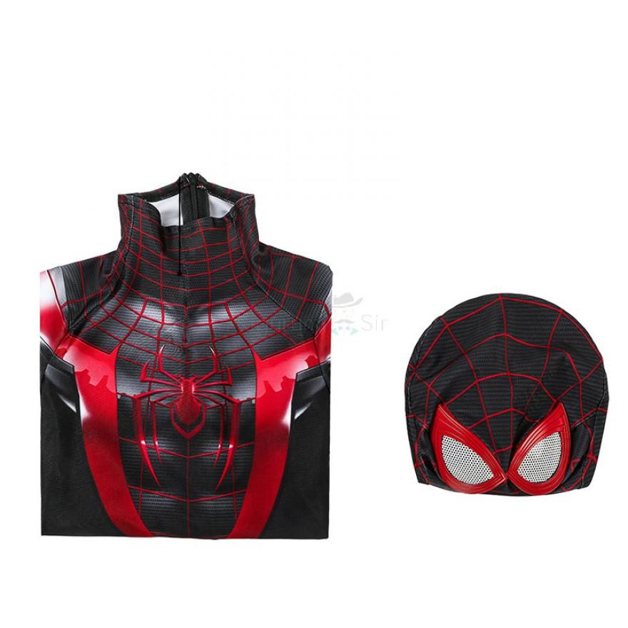 Spiderman Superheld Cosplay Kostüm Miles Morales Kinder Outfit Set Cos Jumpsuit
