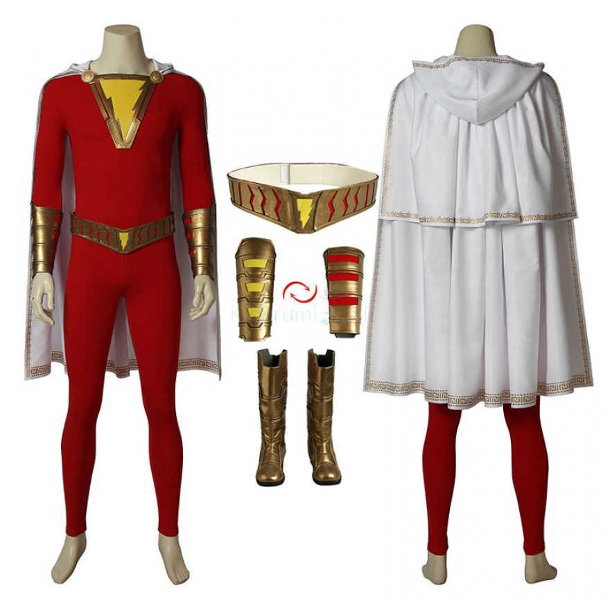 Shazam Costume Billy Batson Cosplay Suits