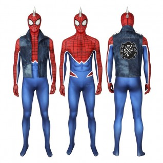 Spider-Punk Costume Spider-Man Hobart Brown Cosplay Costume for Adult