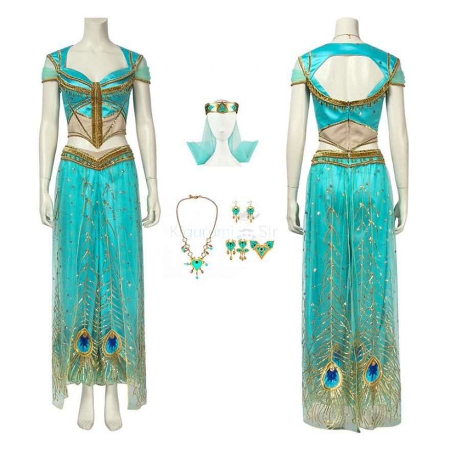 Aladdin Jasmine Princess Dress Cosplay Costume