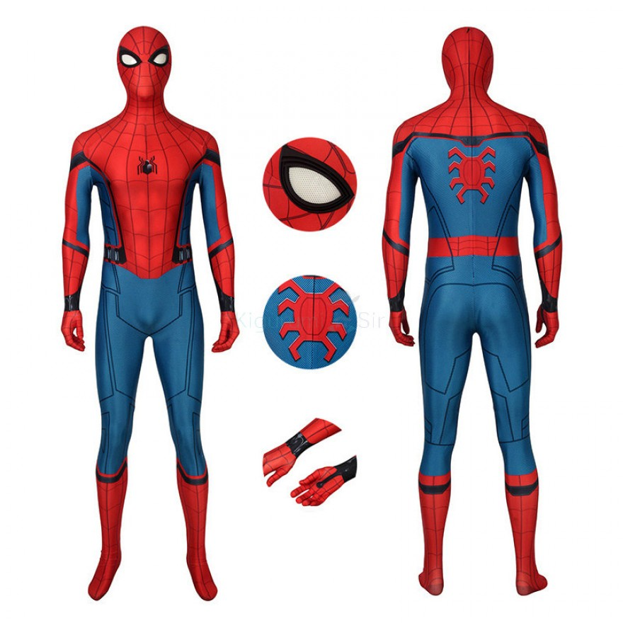 Spider-Man Far From Home Cosplay Costume Peter Parker Jumpsuit for Adult