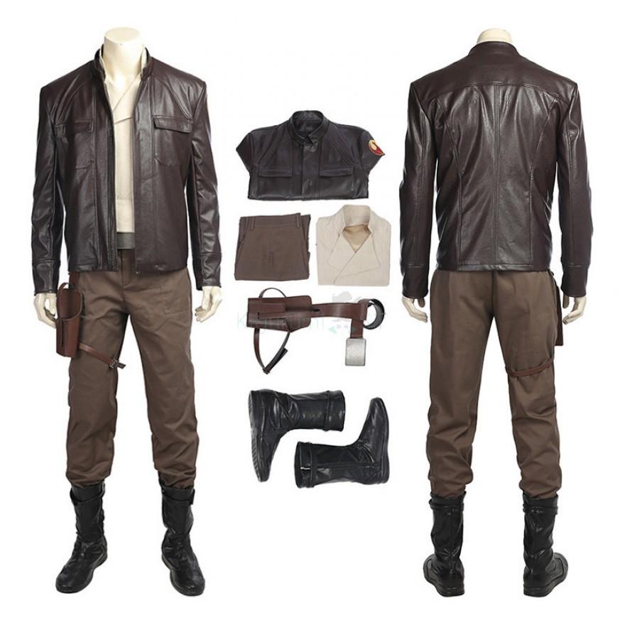 Poe Dameron Costume Star Wars 8 The Last Jedi Cosplay Suits