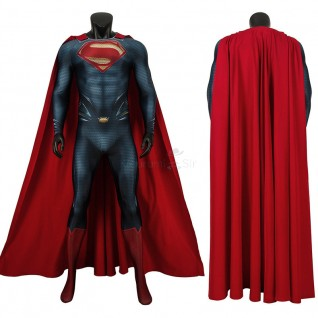 Superman Clark Kent Costume Man of Steel Cosplay Suits for Adult