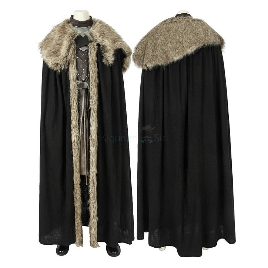 Jon Snow Costume Game of Thrones 8 Cosplay Suits