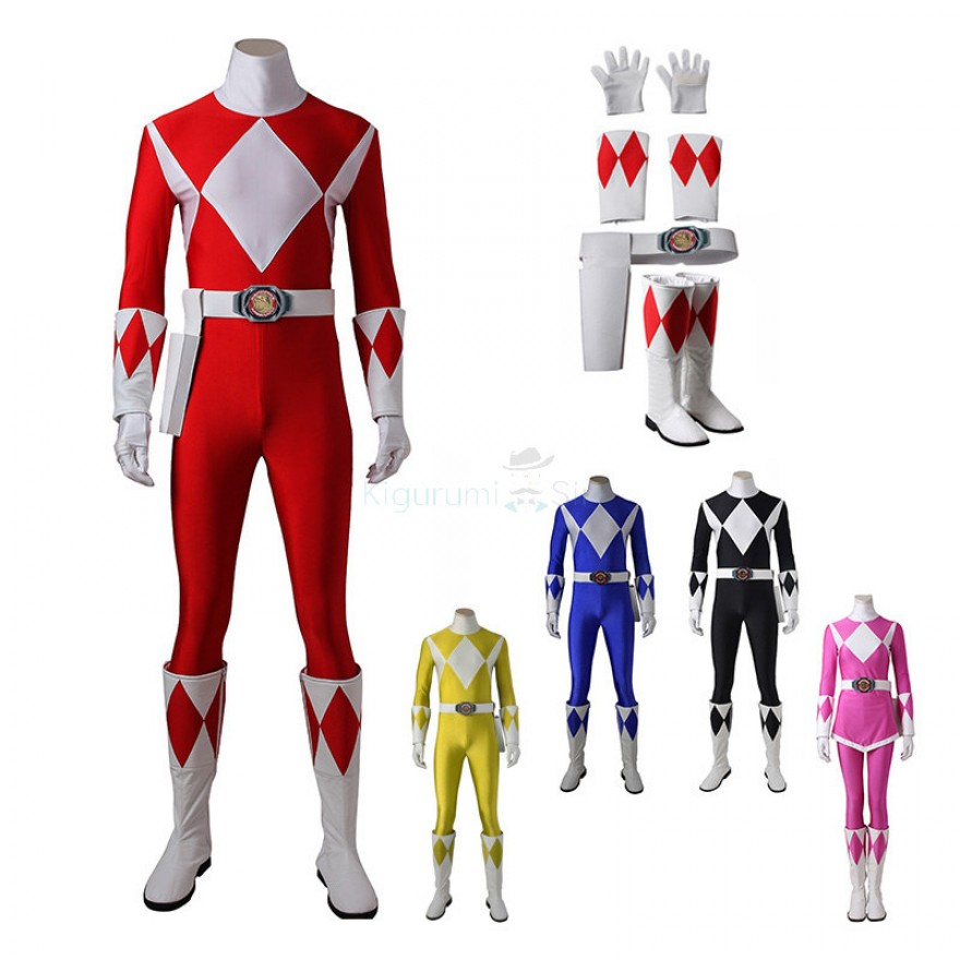 Mighty Morphin Power Rangers Cosplay Costume Suits