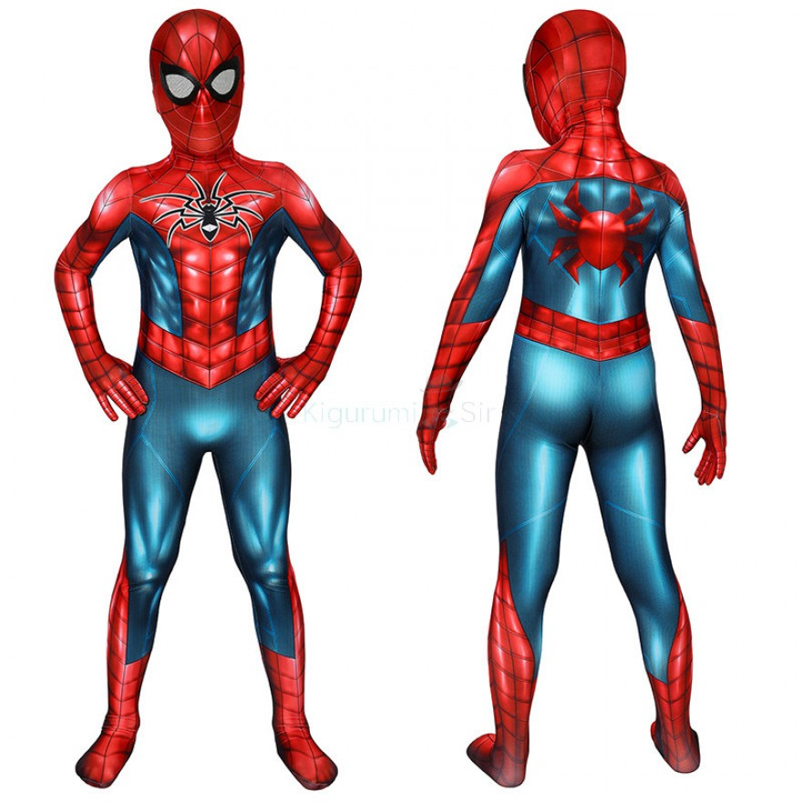 Kids Spiderman Jumpsuit Spider-Armor MK IV Cosplay Costume