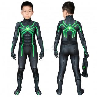 Kids Spiderman Jumpsuit Spider Man Stealth Big Time Cosplay Costume