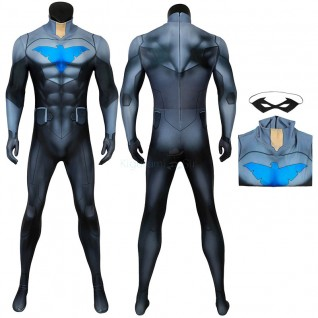 Adult Nightwing Jumpsuit Son Of Batman Damian Wayne Cosplay Costume