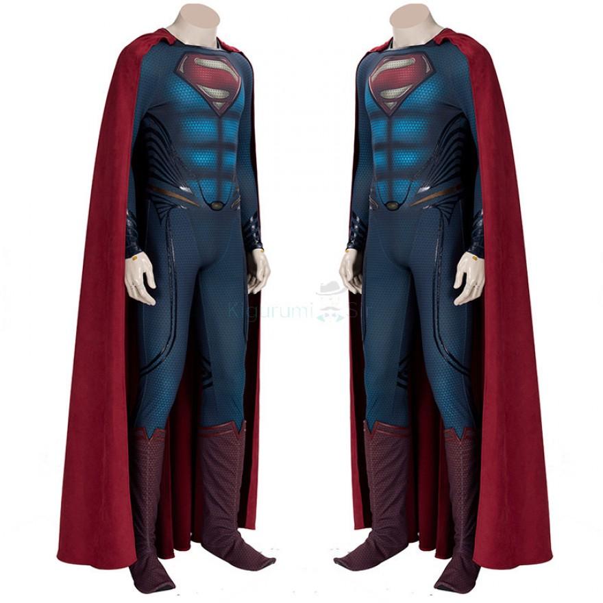 Man of Steel Superman Jumpsuit Clark Kent Cosplay Costume