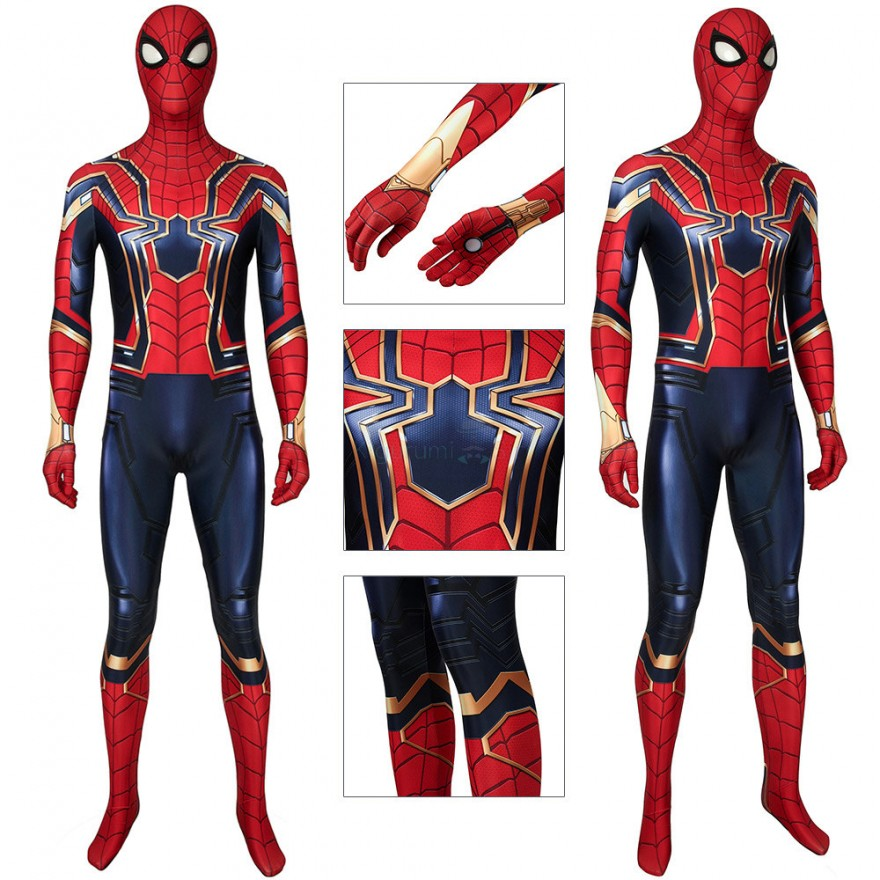 Spiderman Cosplay Costumes Avengers Endgame Iron Spider Armor Jumpsuit
