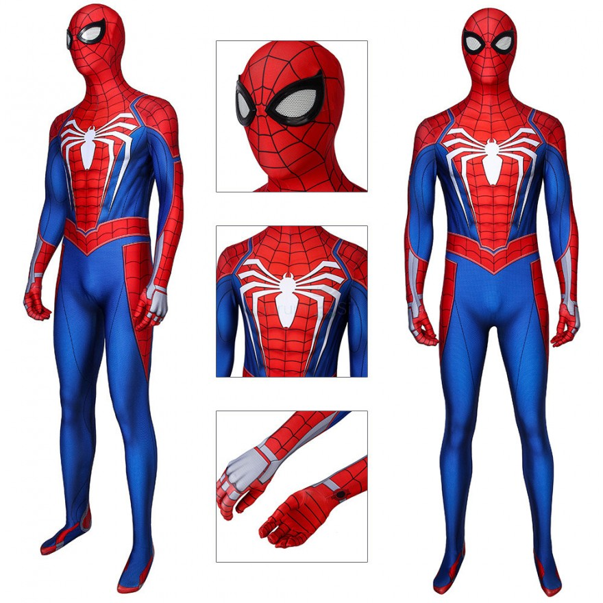 Spider Man Cosplay Costume Spiderman Jumpsuit for Adult