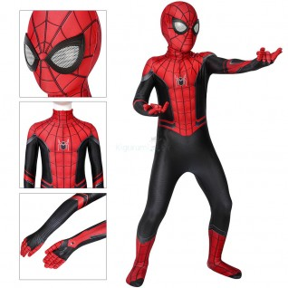 Kids SpiderMan Costume Far From Home Peter Parker Cosplay Costumes Jumpsuit