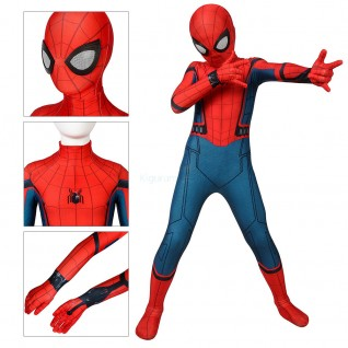 Kids Spider-Man Costume Spiderman Homecoming Cosplay Jumpsuit