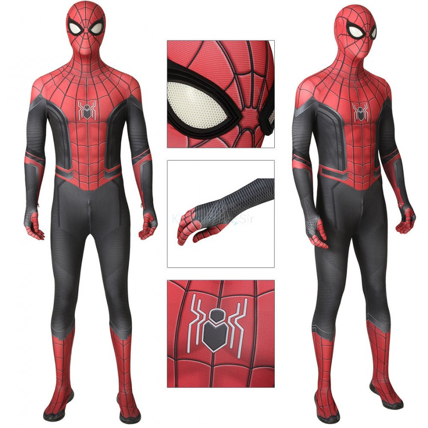 Peter Parker Jumpsuit Spider-Man Far From Home Cosplay Costume