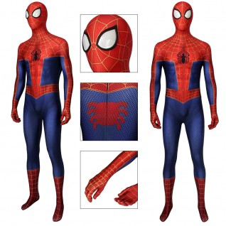 Peter Parker Jumpsuit Spider-Man Into The Spider-Verse Cosplay Suits