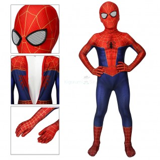 Kids Peter Parker Jumpsuit Spider-Man Into the Spider-Verse Cosplay Costume