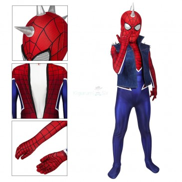 Spider-Punk Cosplay Costume Spiderman Jumpsuit for Kids