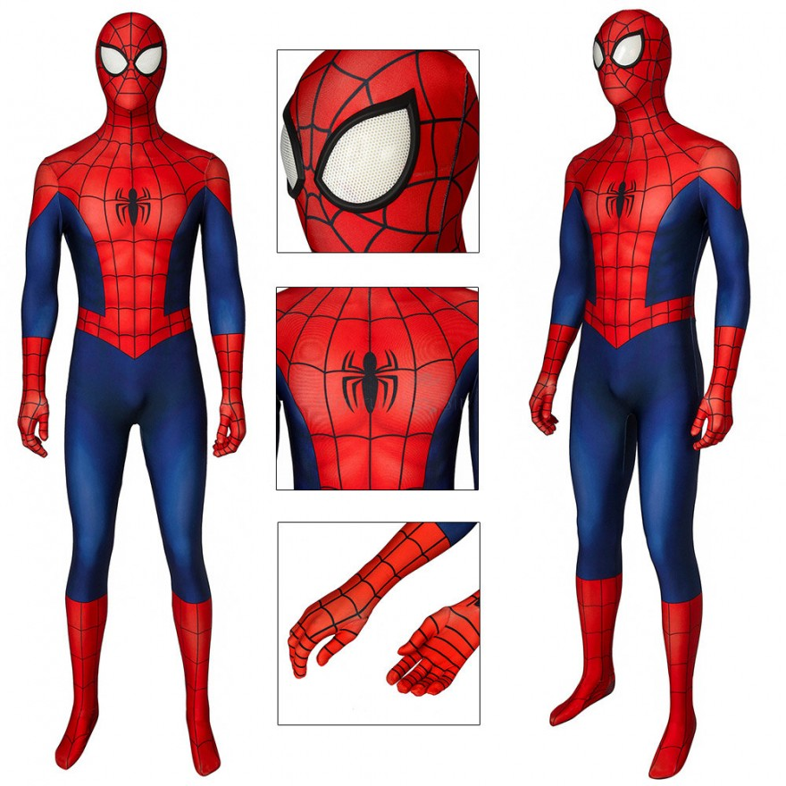 Ultimate Spider-Man Cosplay Costume Peter Parker Jumpsuit