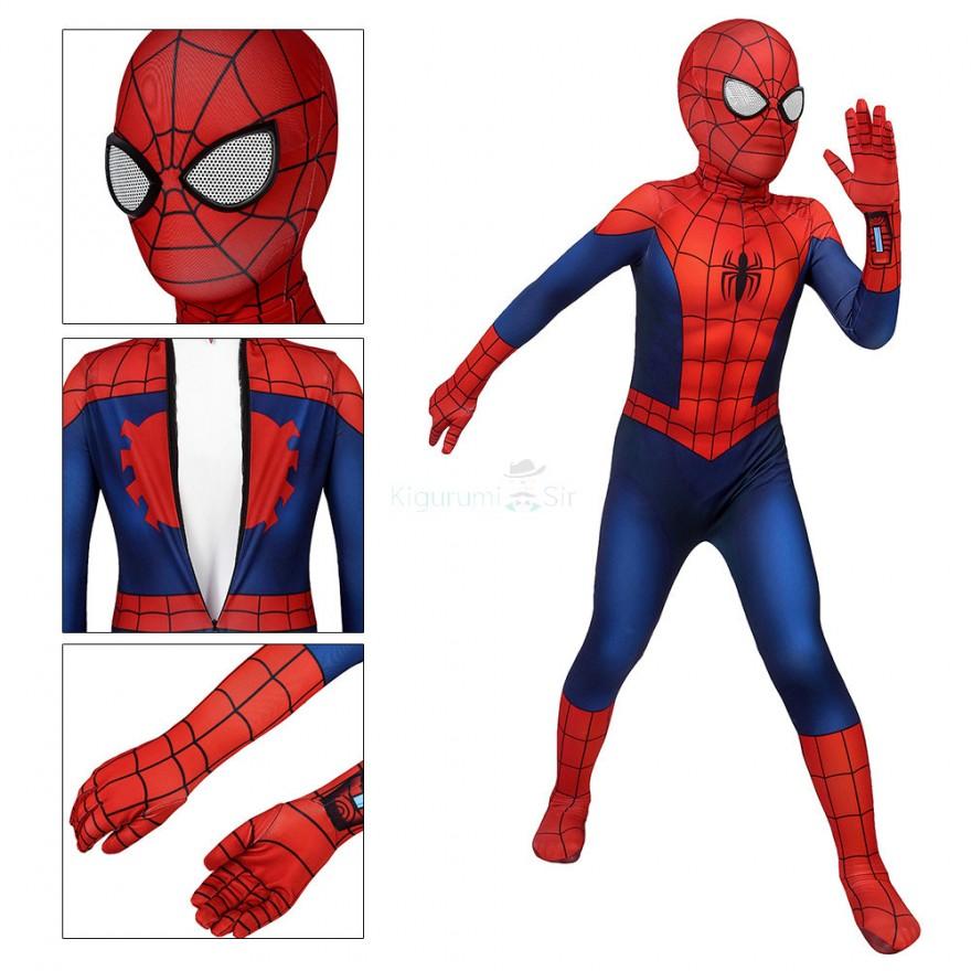 Ultimate Spider-Man Cosplay Costume Peter Parker Jumpsuit for Kids