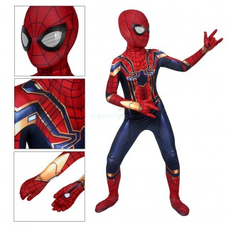 Avengers Endgame Iron Spider Armor Jumpsuit Spider-Man Cosplay Costume for Kids