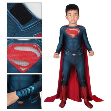 Man of Steel Superman Cosplay Costume Clark Kent Jumpsuit for Kids
